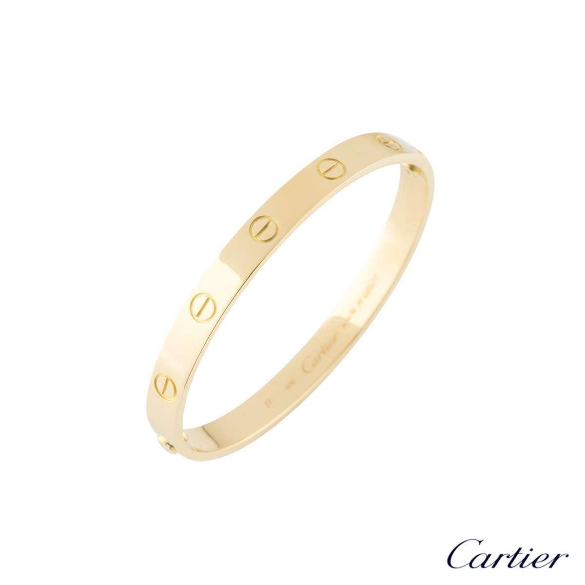Cartier Yellow Gold Plain Love Bracelet Size 18B6035518
